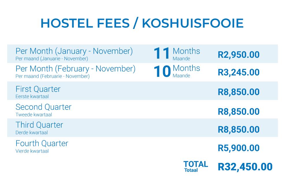 School Hostel Fees 2021